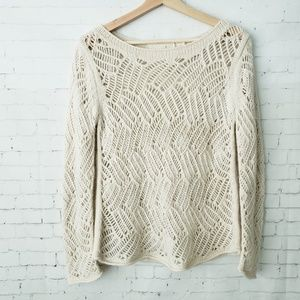 Angle of the North Sweater Anthropologie Knit M